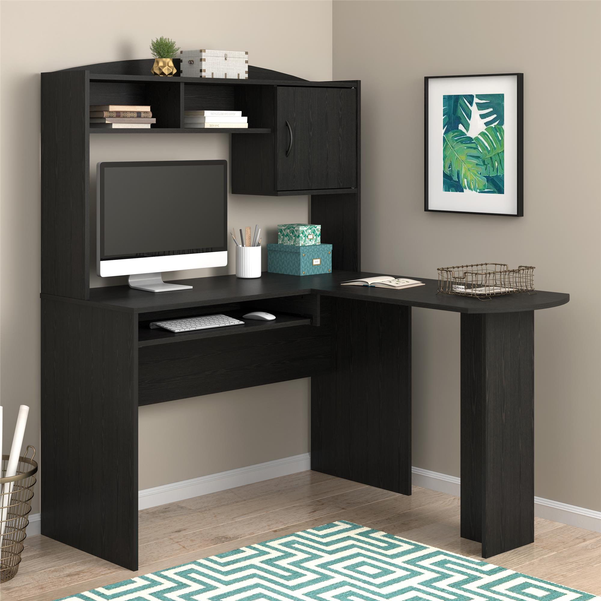 Mainstays L-Shaped Desk with Hutch, Multiple Colors by Ameriwood Industries Inc