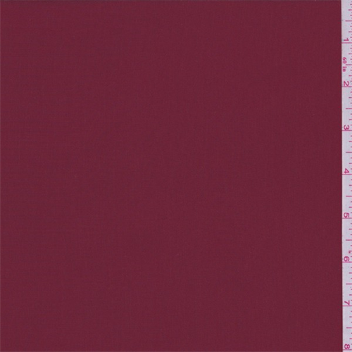 Garnet Red Polyester Faille, Fabric By the Yard