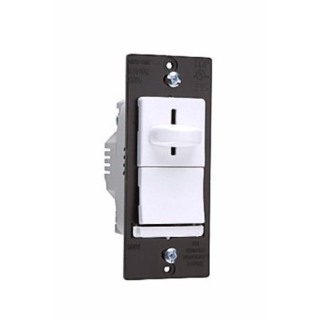 New Pass & Seymour Light Almond Incandescent Grounding 3-Way Preset Slide Dimmer 120VAC 600W Back & Side Wired LS603-PLA Slide Almond Dimmer