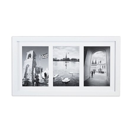 Golden State Art, 8.5x16.3 White Photo Wood Collage Frame with Real ...