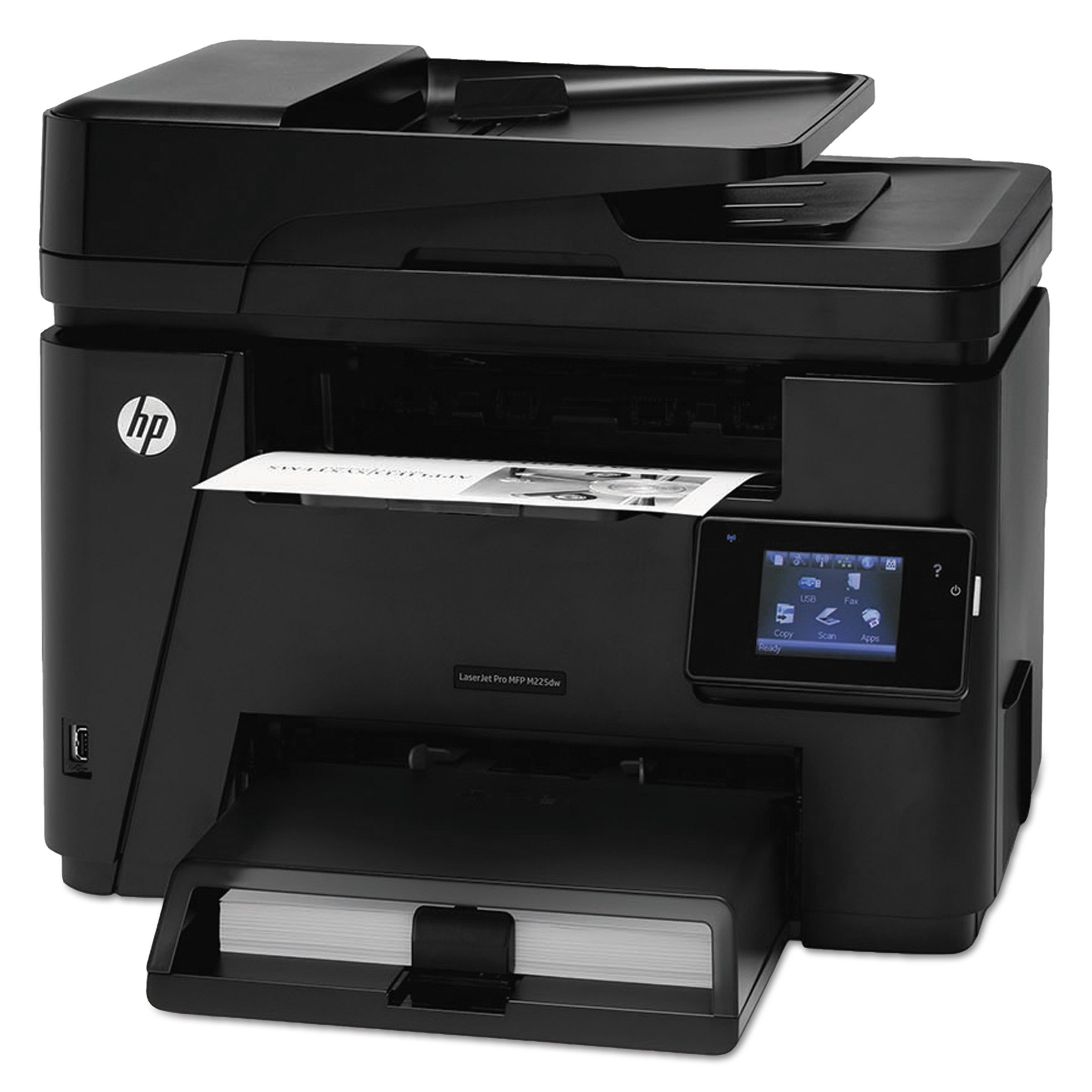 HP LaserJet Pro MFP M225dw Multifunction Laser Printer, Copy/Fax/Print/