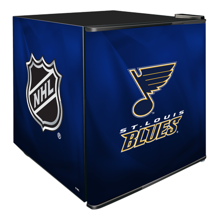 NHL Solid Door Refrigerated Beverage Center 1.8 cu ft St. Louis Blues by