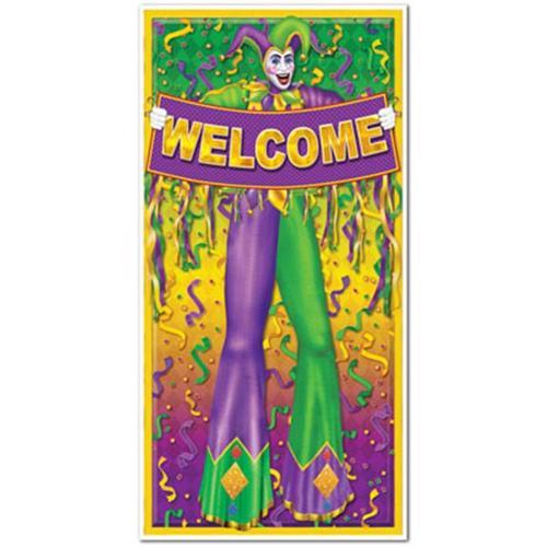 Beistle 57320 Mardi Gras Door Cover, 30-Inch by 5-Feet
