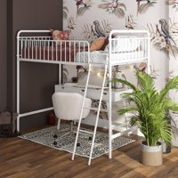Better Homes and Gardens Kelsey Twin Metal Loft Bed, White