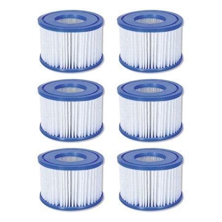 Coleman SaluSpa Swimming Pool Filter Pump Type VI Replacement Cartridge (6 Pack)