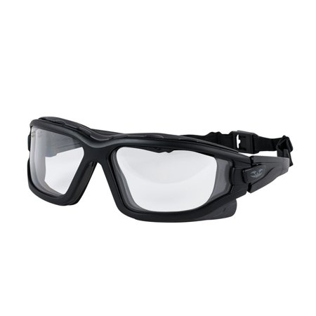 V-TAC Zulu Airsoft Goggle, Clear, Quick release interchangeable temples and an elastic strap By Valken (Kaiser Air Release)