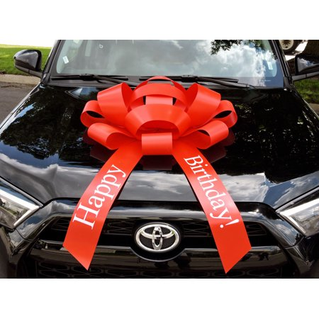 Giant Bows (CarBowz Big Red Car Bow, Happy Birthday Bow, Giant 30