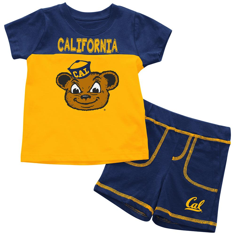 Infants NCAA California Golden Bears Infant T Shirt and Shorts Set Combo (Team Color) - 3-6 Months