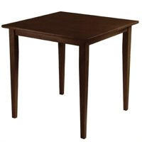 Pemberly Row Wood Square Dining Table in Antique Walnut
