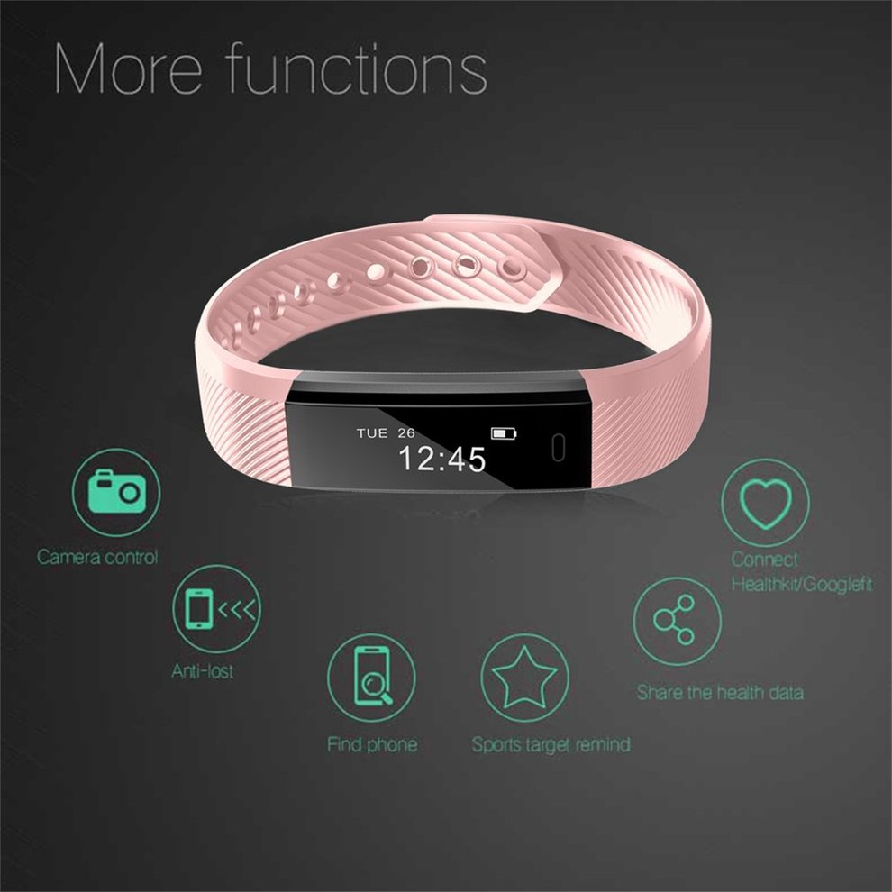 LEMFO ID115 Pedometer Smart Bracelet Fitness Tracker for iOS for Android