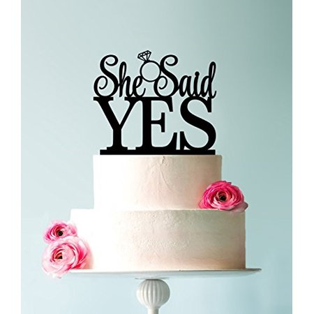 USA-SALES She Said Yes Cake Topper, Bridal Shower, Engagement Party Decoration, by USA-SALES Seller - She Said Yes Bridal