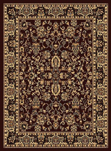 Traditional Area Rug, Superior All Over Chocolate 4x6