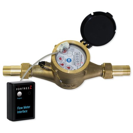 Wireless Z-WavePlus Flow Meter LF Brass 3/4 inch; Cert ID:
