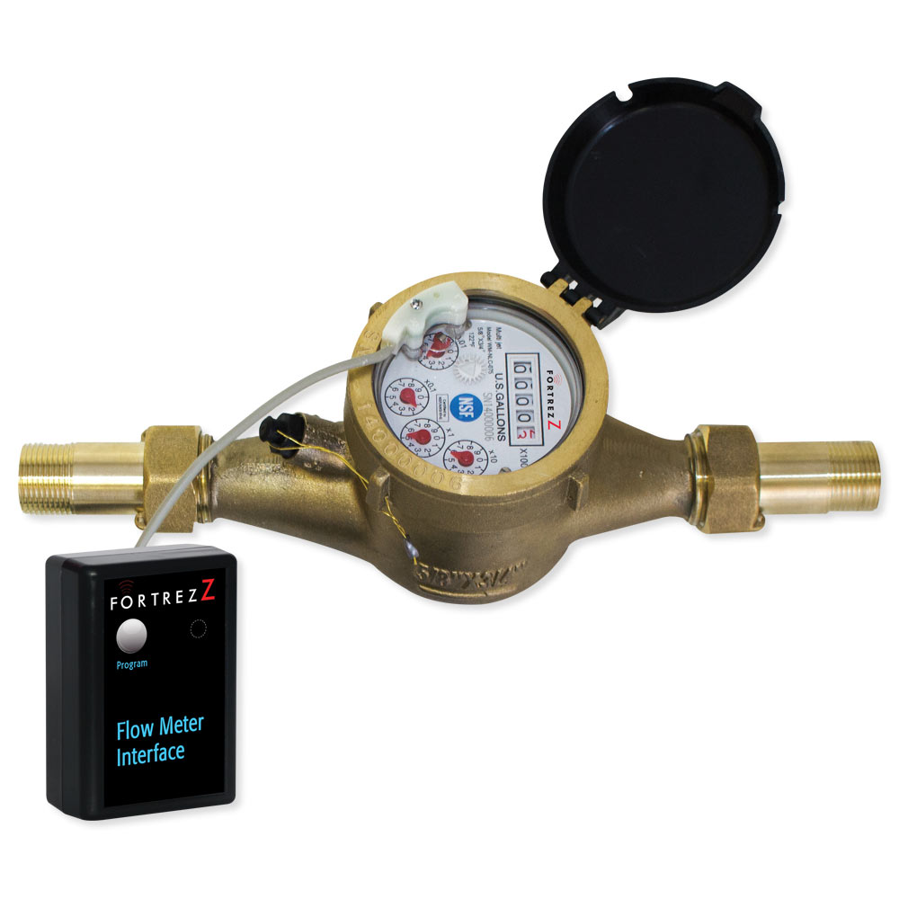 Wireless Z-WavePlus Flow Meter LF Brass 1 inch; Cert ID: ZC10-16045038