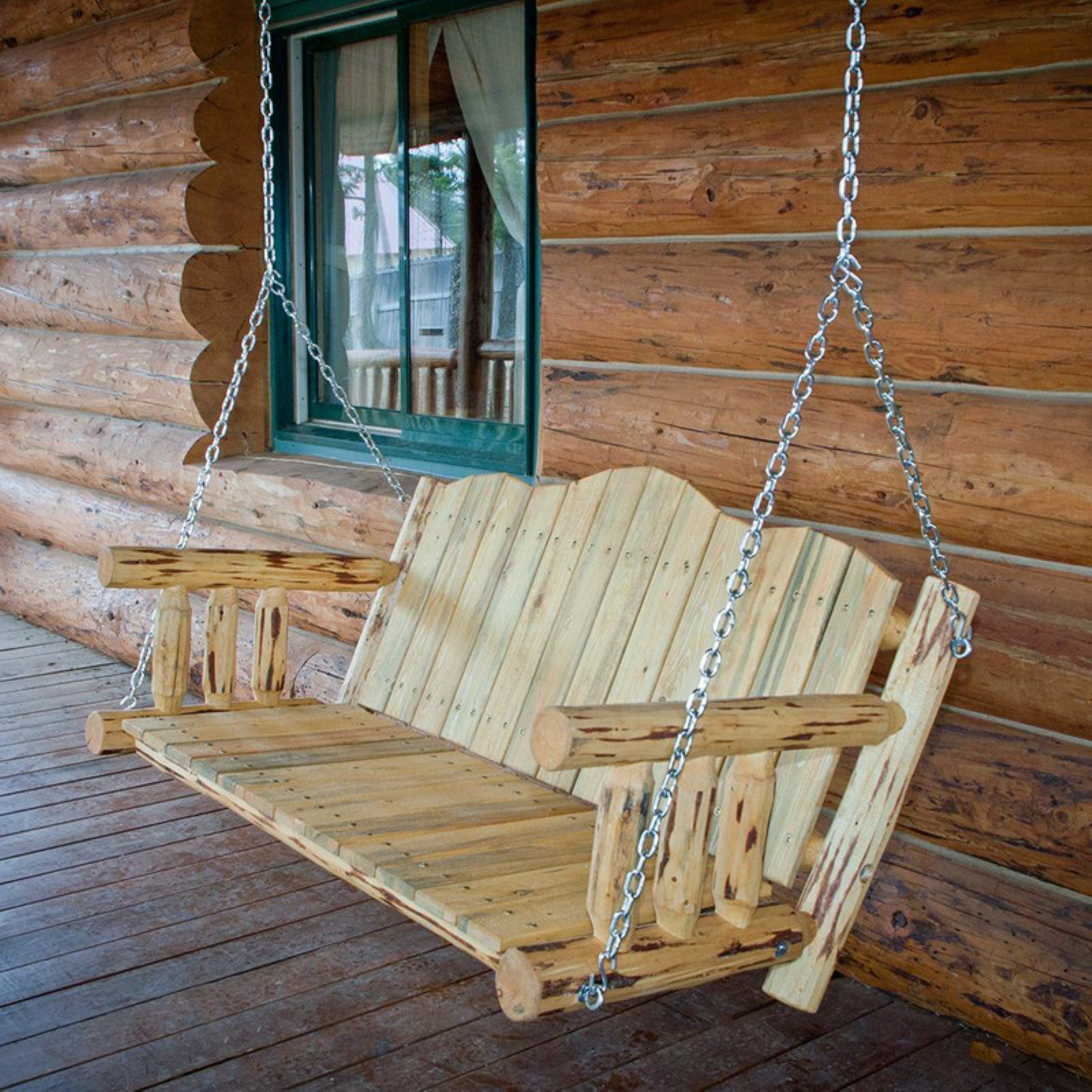 Montana Woodworks 4 ft. Porch Swing with Chains by Porch Swings