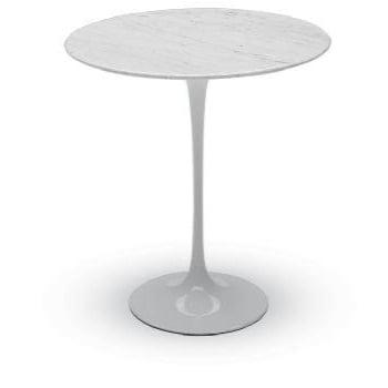 Saarinen Style Tulip Round Side Table - White -