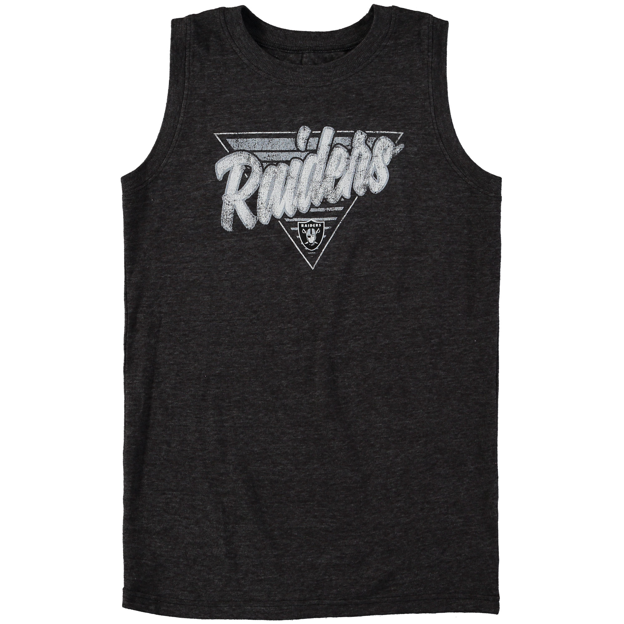 Oakland Raiders Youth Our Era Tri-Blend Tank Top - Black