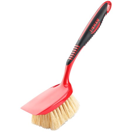 libman long handle tampico scrub brush 00523. Black Bedroom Furniture Sets. Home Design Ideas