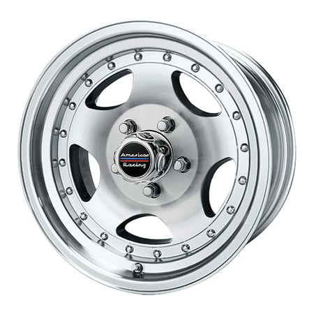 American Racing AR23, 15x8 Wheel with 5 on 4.5 Bolt Pattern - Machined With Clear Coat - AR235865 ()