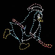 48 in. LED Right Facing Hockey Penguin Lighted Display - 220 Bulbs