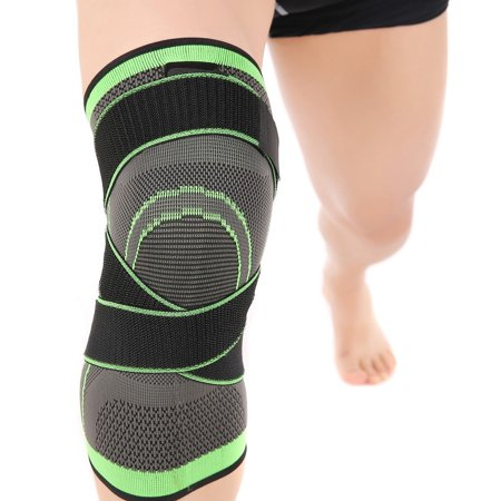 Knee Brace Compression Sleeve with Strap for Pain Relief, Meniscus Tear, Arthritis, ACL, MCL, Quick Recovery - Knee Support for Running, Basketball, CrossFit by