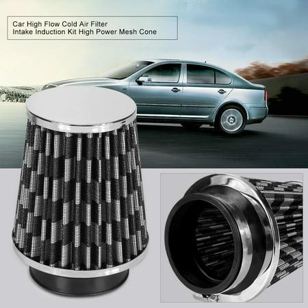 HURRISE Car High Flow Cold Air Filter Intake Induction Kit High Power Mesh Cone, Intake Air Filter, Intake Induction Filter - image 6 of 7