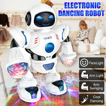 - Electronic Kids Toys Astronaut Robot Music Dancing Walking Cool Disco Light Baby Children Educational Toy Birthday Gift
