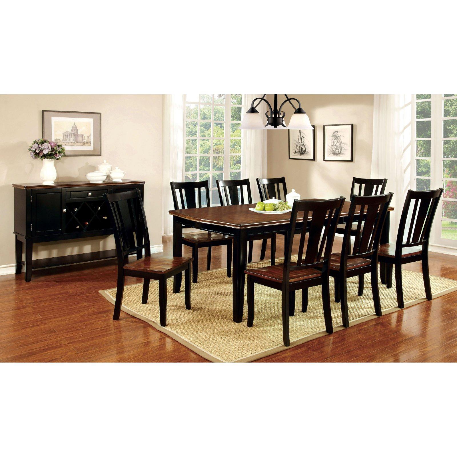 Furniture of America Lohman Dual-Tone Rectangular Dining Table