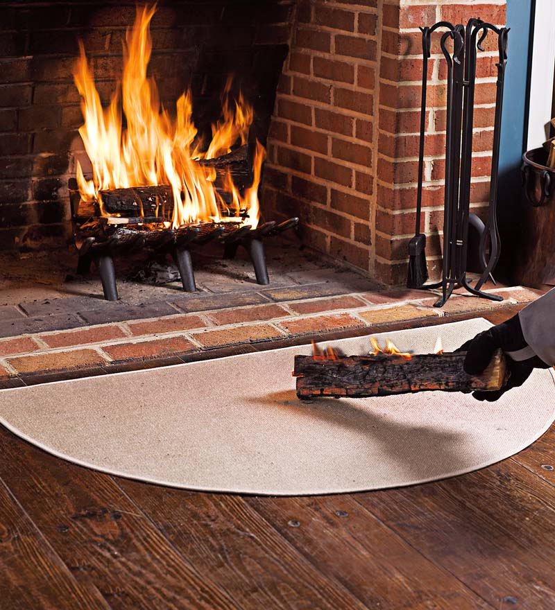 Flame Resistant Half Round Hearth Fireproof Rug Walmart Com
