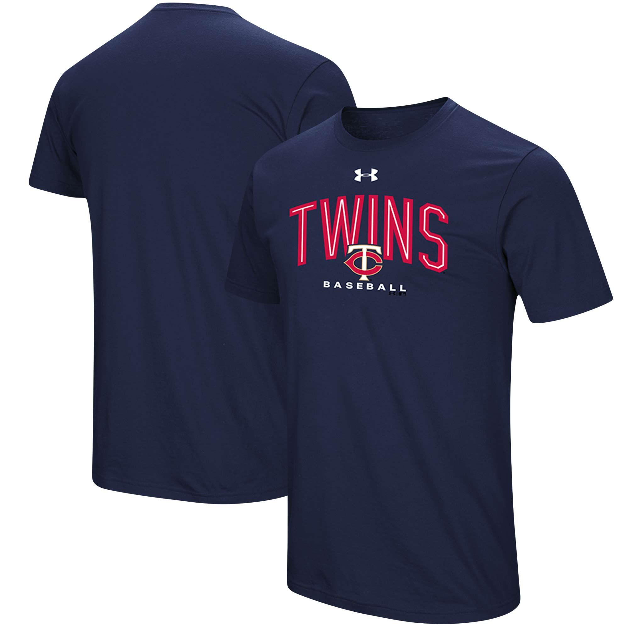 Minnesota Twins Under Armour Performance Arch T-Shirt - Navy