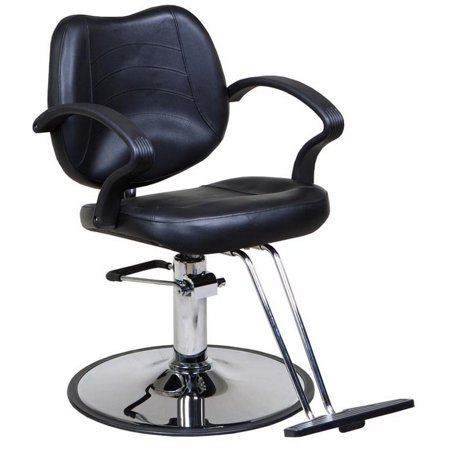 Mae  Black Classic Beauty Salon Hydraulic Styling Chair