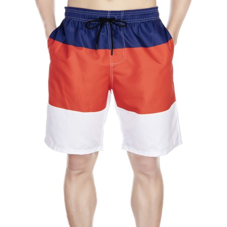 Mens Colorblock Boardshorts (LELINTA Mens Swim Trunks Summer Watershort Swimsuit Beach Board Quick Dry Colorblock Shorts Bathing Suits Elastic Waist Drawstring, XL-5XL )