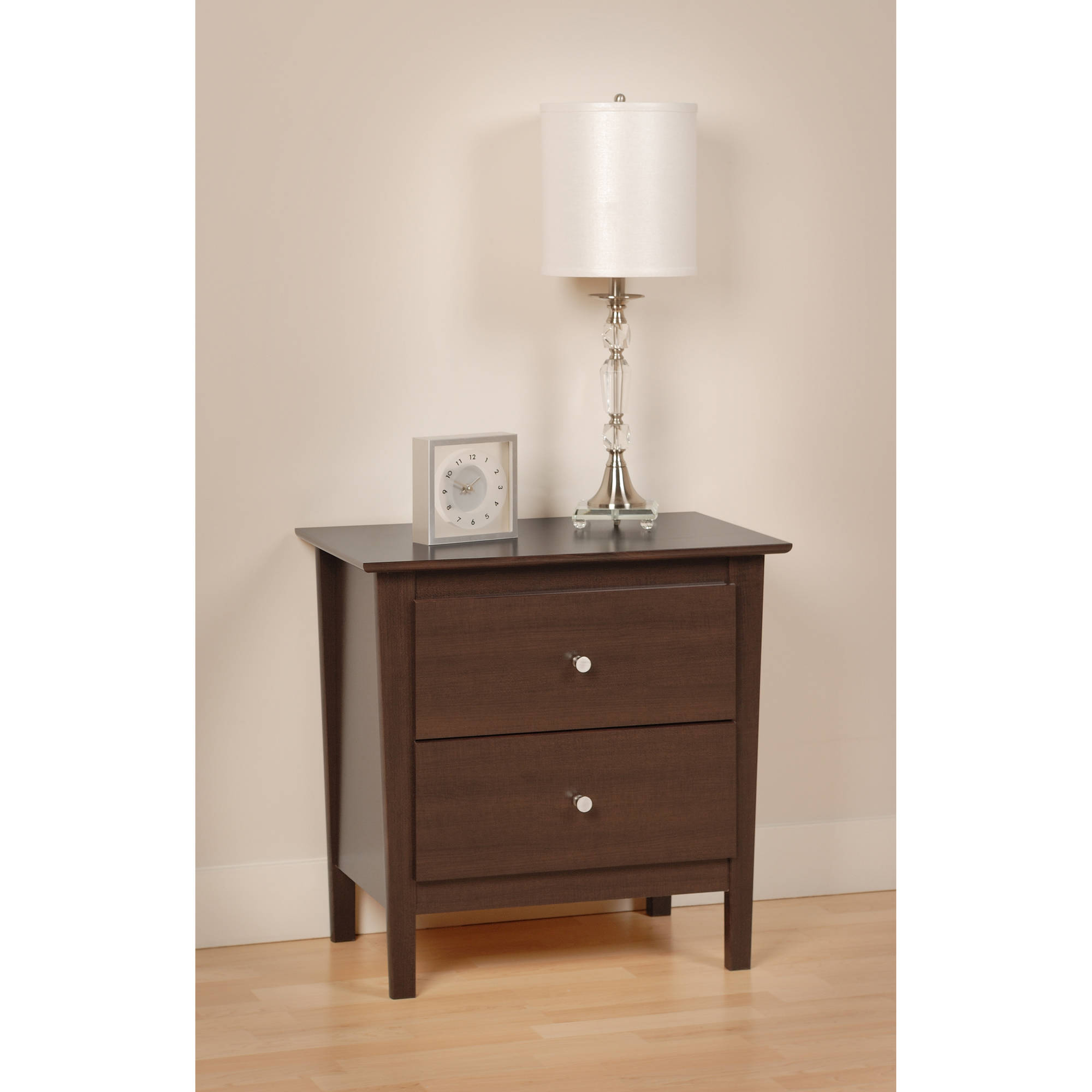 Prepac Berkshire 2 Drawer Nightstand Espresso by Prepac