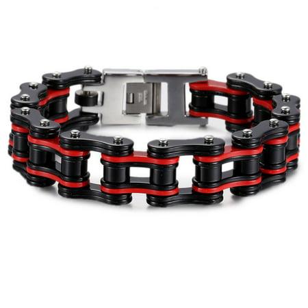 18mm Heavy Boys Mens Chain Biker Motorcycle Link 316L Stainless Steel Bracelet 8.85inch](Bracelets For Boys)