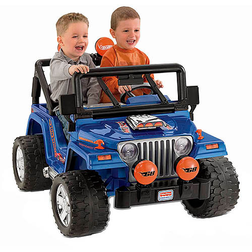 Fisher-Price Power Wheels Hot Wheels Jeep Wrangler 12-Volt Battery-Powered Ride-On with Bonus Hot Wheels Cars