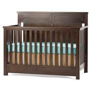 Child Craft Abbott 4-in-1 Convertible Baby Crib in Rich Walnut