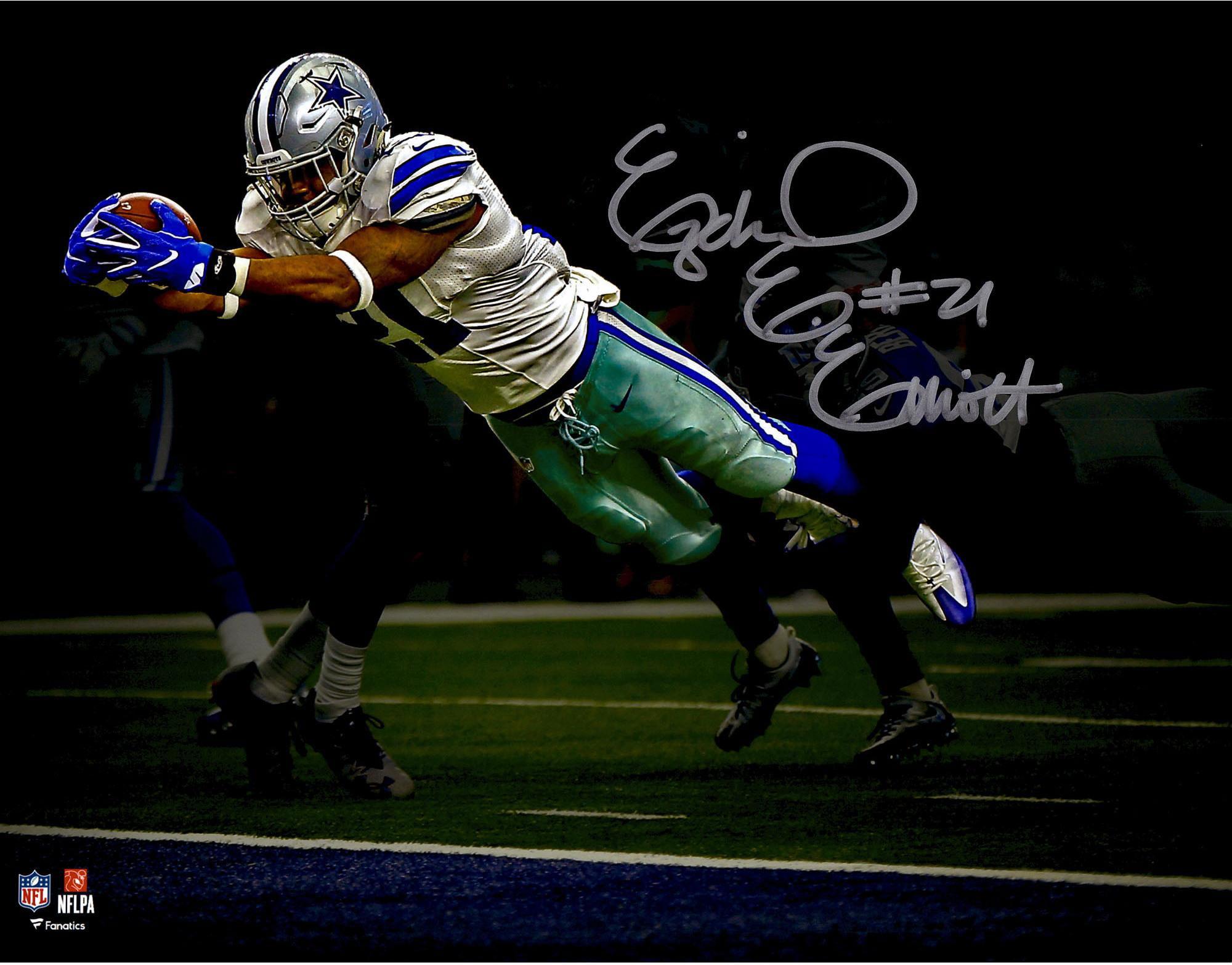 san francisco 80f3b f4d42 Ezekiel Elliott Dallas Cowboys Autographed 11
