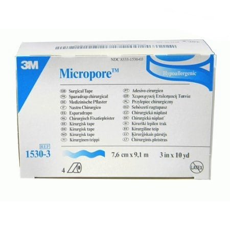 3M Micropore Surgical Paper Tape  3 Inch X 10 Yards   Case Of 40