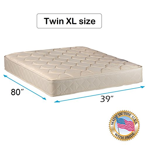 "Comfort Classic Gentle Firm Twin XL (39""x80""x9"") Mattress Only - Fully Assembled, Orthopedic, Good for your back, Superior Quality - Long Lasting and 2 Sided by Dream Solutions USA"