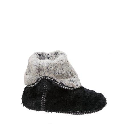 Faux Fur Slipper Boots (Women's Faux Fur Foldown Boot Slippers )