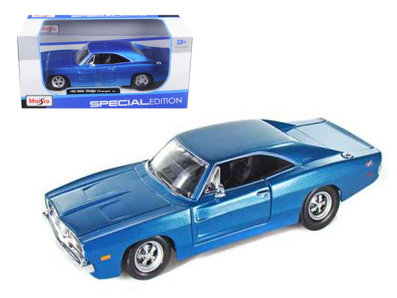 1969 Dodge Charger R T Hemi Blue 1 25 Diecast Model Car by Maisto by Diecast Dropshipper