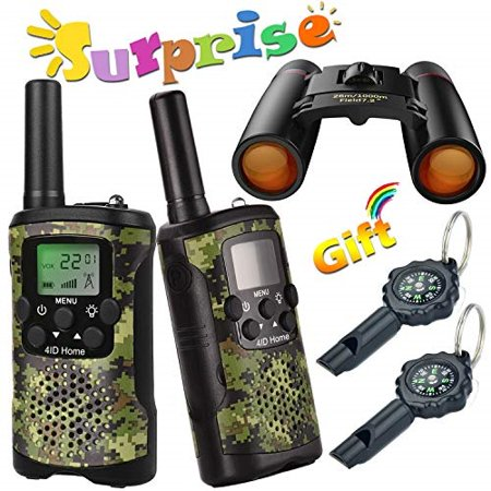 Walkie Talkie for Kids Binoculars for Kids Compass Outdoor Toys Kit Long Range Walkie Talkies Durable Toy Best Birthday Gifts