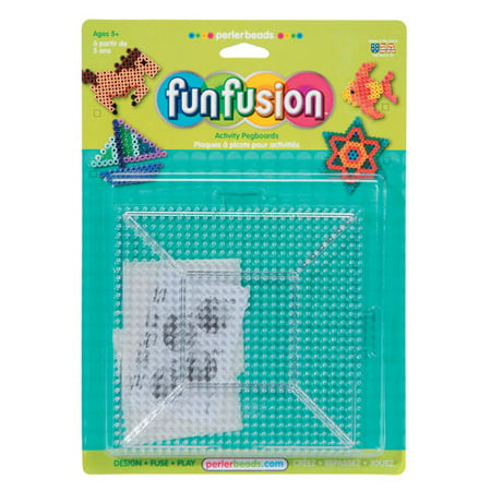 Perler Beads for Kids Funfusion Large Clear Pegboard