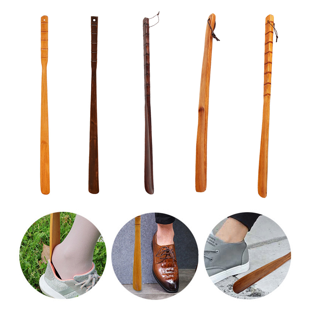 Details about  /Extra Large Wooden Shoehorn Long Shoe Horn Handle Help Tools 2 Colors Unisex