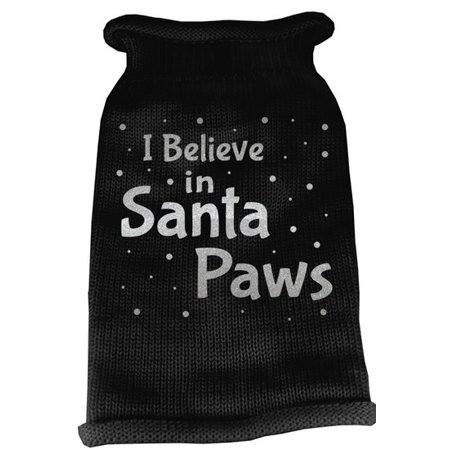 Pet Paw Print (Mirage 621-13 XXL-BK I Believe in Santa Paws Screen Print Pet Sweater 2XL)
