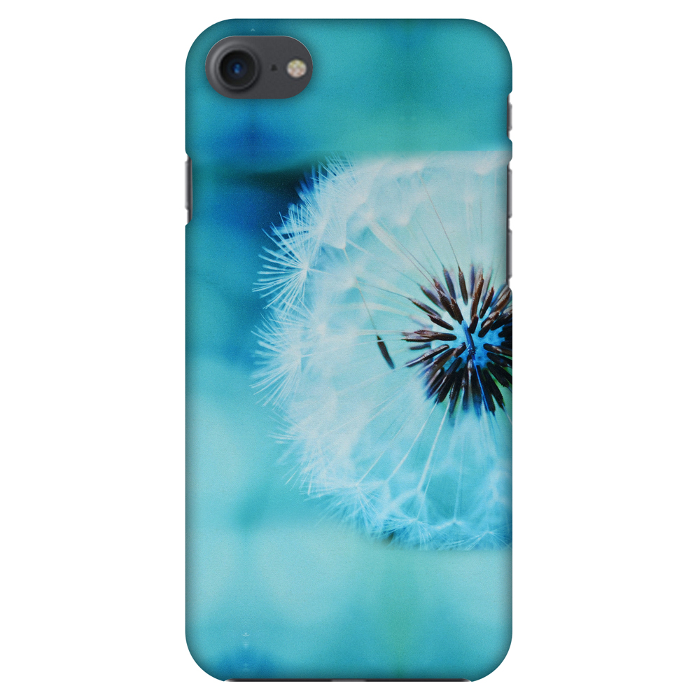iPhone 8 Case - Dandelion Close By, Hard Plastic Back Cover. Slim Profile Cute Printed Designer Snap on Case with Screen Cleaning Kit