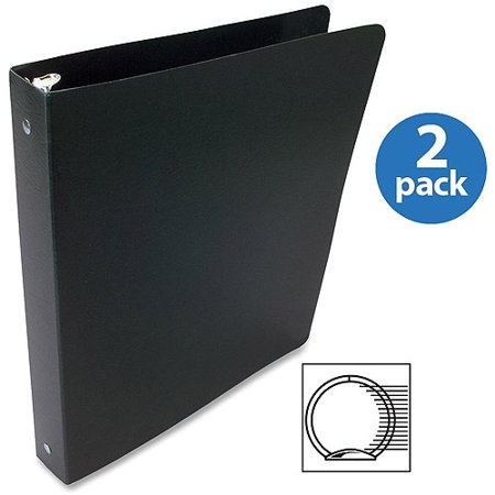(2 Pack) ACCO Presstex Coated Round Ring Binders