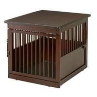 "Richell Wooden End Table Dog Crate, Dark Brown, Medium, 31.1""L x 25""W x 24""H"