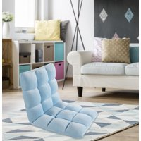 Chic Home Esme Microplush Armless Fleece Quilted Recliner Floor Chair, Multiple Colors
