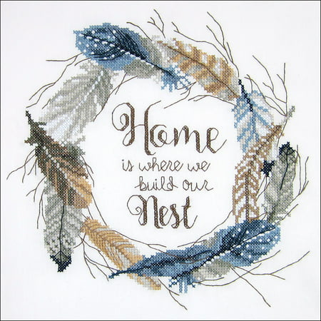 "Janlynn Stamped Cross Stitch Kit 12""X12""-Build Our Nest-Stitched In Floss"